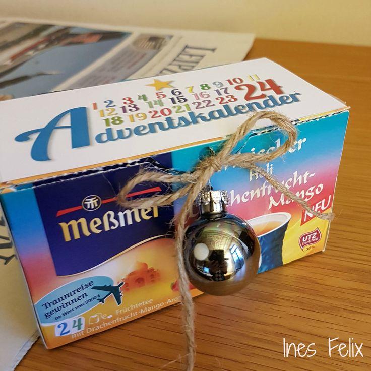 Tee-Adventskalender Wisst ihr, das in Teebeutelpackungen immer irgendwie zwischen 20 und 25 Teebeutel drin sind. Perfekt für einen Mini-Teebeutel-Adventskalender. Ihr müsst die Packung natürlich öffnen und die Anzahl der Teebeutel reduzieren oder entsprechend vier dazu geben, damit genau 24 Teebeutel für jeden Tag bis Weihnachten drin sind. Und dann wird dekoriert. Die Zahlen-Vorlage könnt Ihr hier:  http://inesfelix-kreativ.blogspot.com/2016/11/teebeutel-adventskalender.html als pdf-Datei…