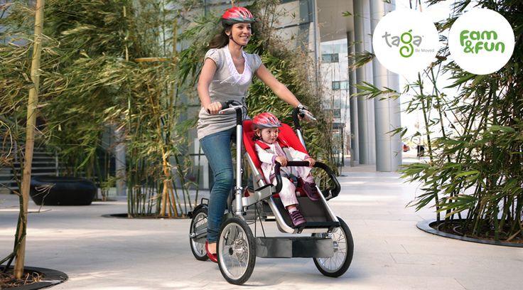 Pięknie zaprojektowane i bardzo praktyczne rozwiązanie dla każdej mamy i… taty.  pojazd matrzy kółka, co oznacza lepszą stabilność niż zwykłego roweru że nie musisz schodzić z pojazdu podczas postoju bezpieczne wkładanie i zdejmowanie dziecka z pojazdu twoje dziecko siedzi między twoimi ramionami jest niżej niż w krzesełku rowerowym patrzysz na dziecko podczas jazdy dziecko