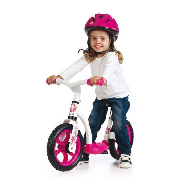 SMOBY 452052 bielo-ružové balančné odrážadlo Learning Bike od 24 mesiacov