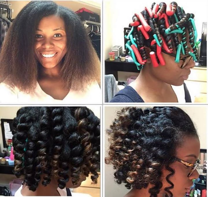 Flexi Rod Set On Blow Dried Hair Achieve Similar Style