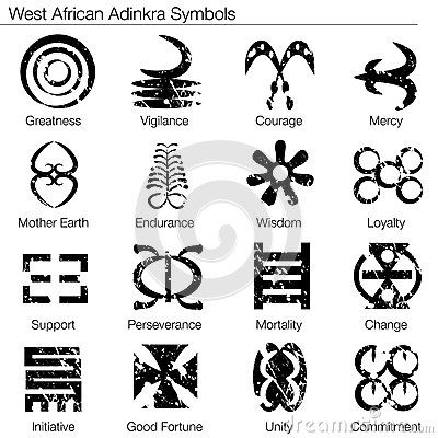 Symboles d Afrique occidentale d Adinkra