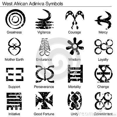 Adinkra Symbols of West Africa | More similar stock images of ` West African Adinkra Symbols `
