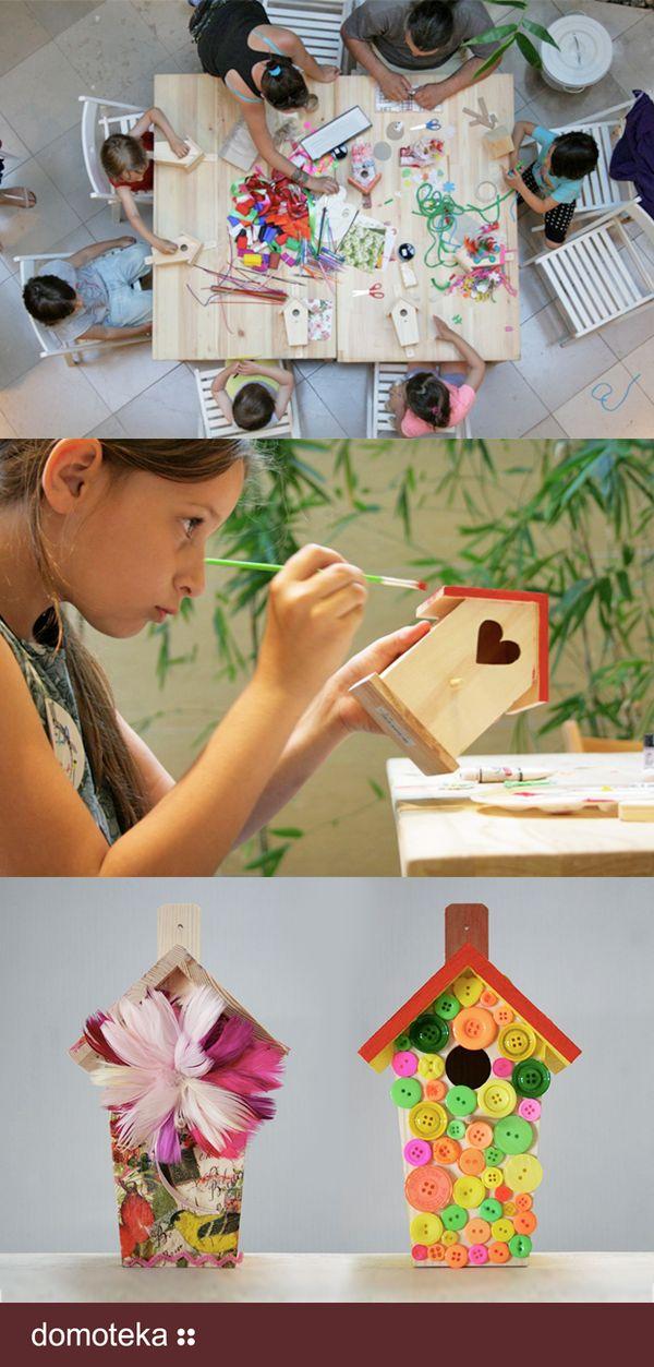 W dniach 13 i 14 czerwca w Domotece, w ramach obchodów Dnia Dziecka, odbyły się wyjątkowe warsztaty kreatywne z wykorzystaniem materiałów recyklingowych.  W ramach wspólnego projektu studenci Europejskiego Wydziału Sztuki i wychowawcy Akademii Harmonika wraz z dziećmi malowali domki dla ptaków i stworzyli eko-zabawki z materiałów wtórnych.