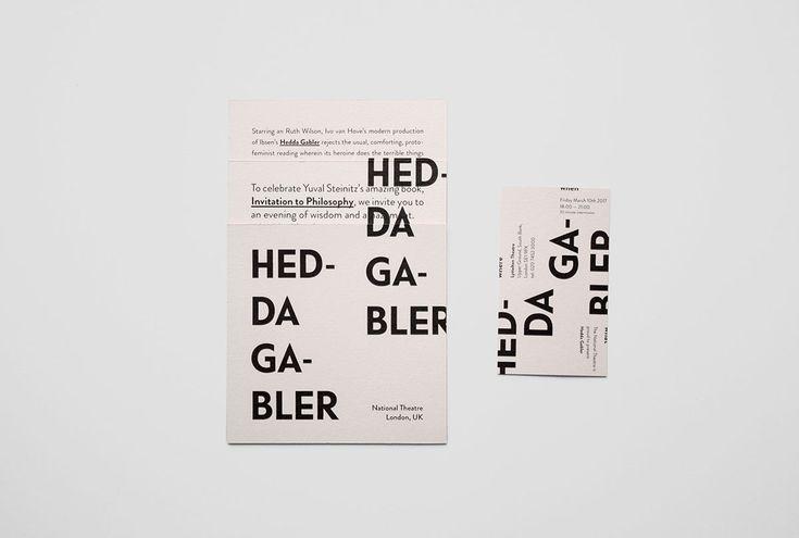 Invite to Hedda Gabler by Henrik Ibsen (Ivo van Hove)