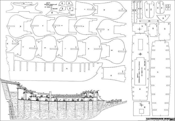 askч чертежи моделей парусных кораблей