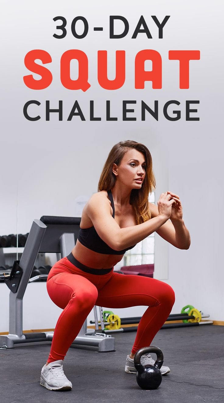 What better way to get your squats in than with a 30-day challenge? Make a promise to yourself that you will do squats everyday for just one month.