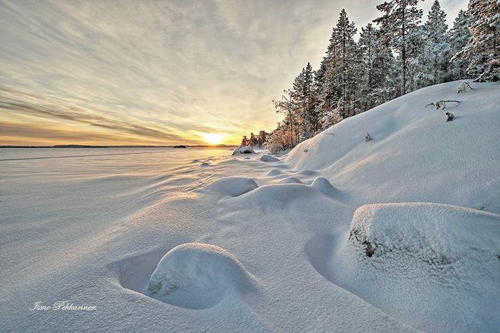 Maisema Pieliseltä hemikuussa. Landscape in Pielinen february.Photo Ismo Pekkarinen #pielinen #suomi #finland #pohjois-karjala #NorthKarelia #maisema #landscape #talvi #winter #järvi #lake