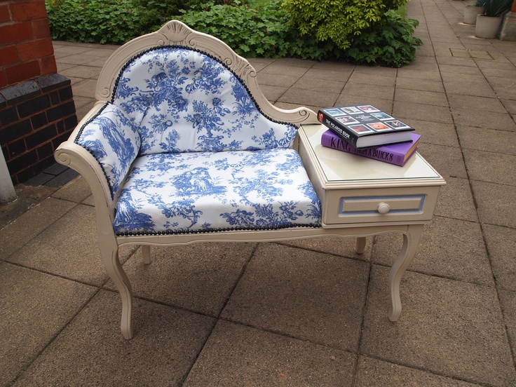 SOLD Upcycled Telephone Table Seat - Annie Sloan Chalk Paint and Vintage  Fabric. $200.00, - 59 Best Telephone Table Images On Pinterest Telephone Table