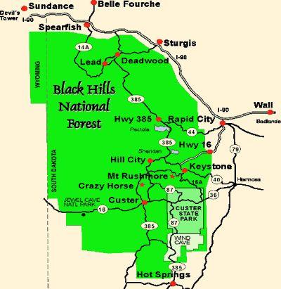 Best Black Hills Images On Pinterest South Dakota Beautiful - Black hills on us map