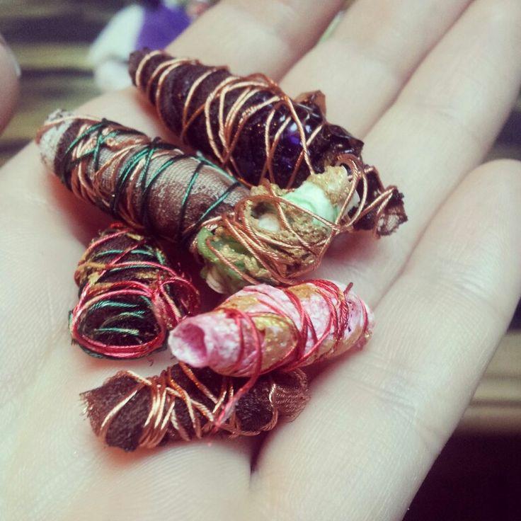 Textiles beads