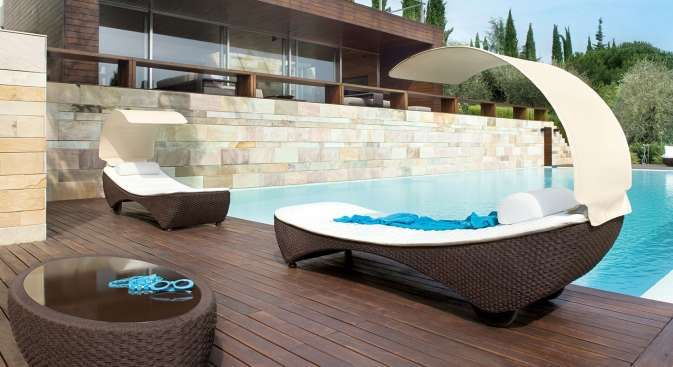 St Tropez Sunbed - Outdoor - Fanuli Furniture