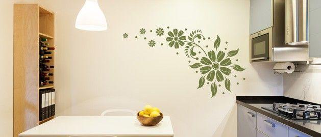 Květena (1251) / Samolepky na zeď, stěnu a nábytek