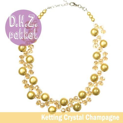 Doe het Zelf Pakket Ketting 'Crystal Champagne' > ook eventueel een bijpassende armband. Om het helemaal af te maken!
