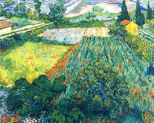 Field with Poppies, Vincent van Gogh 1889
