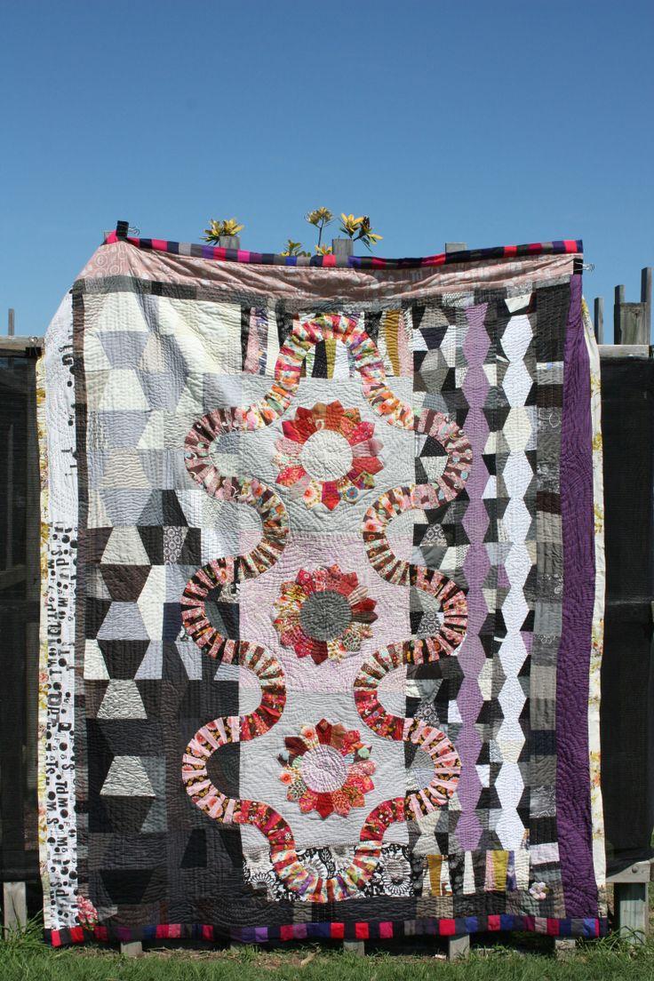 'Romany holiday' modern quilt by Jess Wheelahan