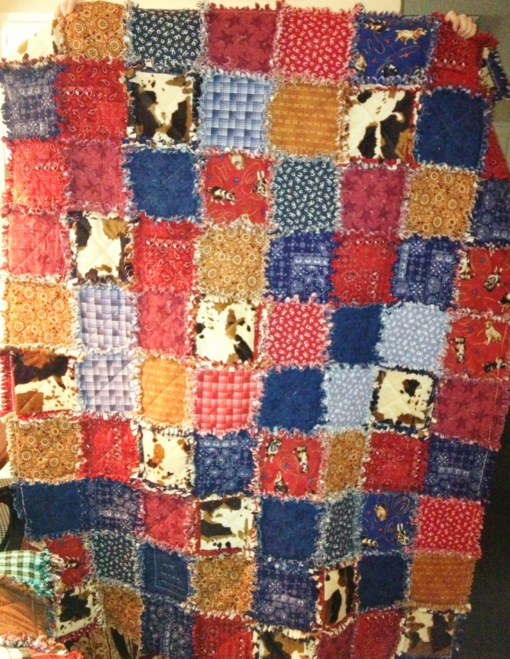 218 best Rag Quilt Cowboy Western images on Pinterest | Cowboy ... : cowboy quilt pattern - Adamdwight.com