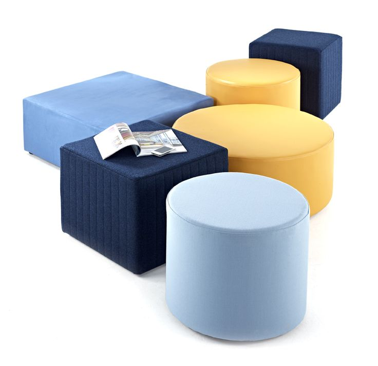 Jigsaw2, round and square stools