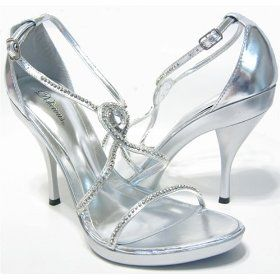 silver heels for prom | Silver Prom Shoes - sexy seductress look - beautiful rhinesthone