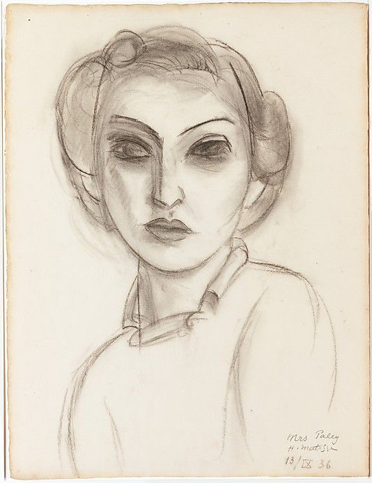 Dorothy Paley by Henri Matisse - 1936. Charcoal on paper.