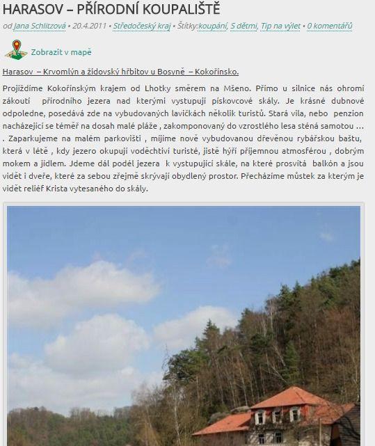 Harasov - přírodní koupaliště