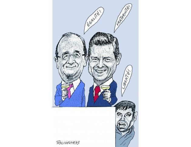 Le président mexicain et ses proches, des invités au #14juillet qui font grincer les dents #LeVivrePourYCroire #Chapo