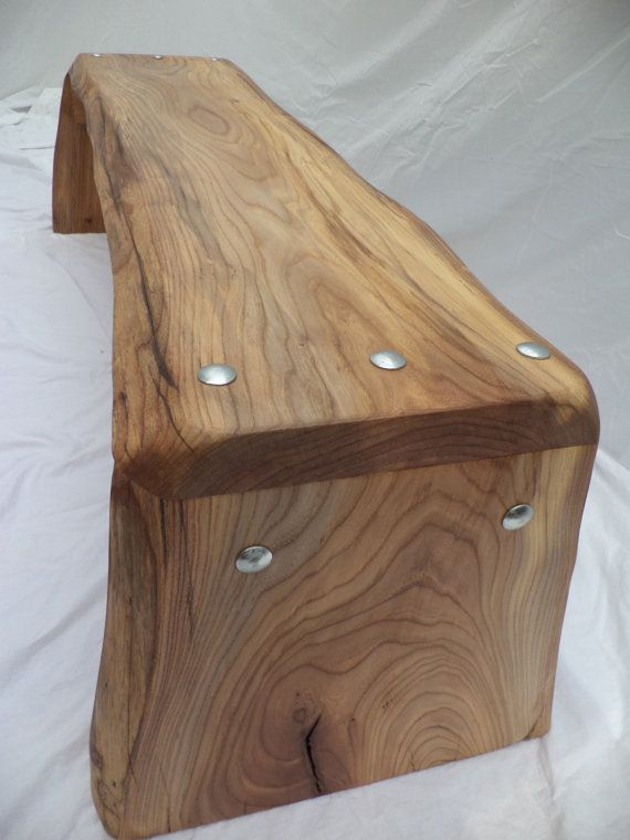 dutch elm bench made out of one slab by houtcreatie on Etsy, €265.00