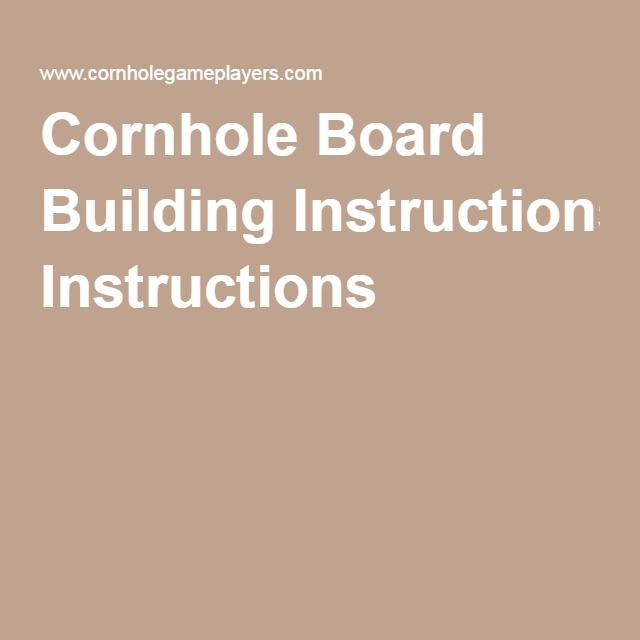 cornhole board building