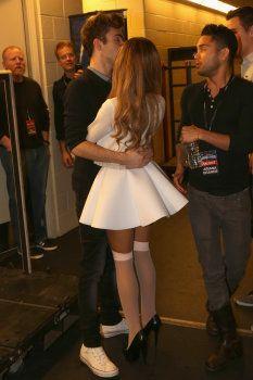 Ariana Grande and Nathan Sykes kiss Jingle Ball 2013