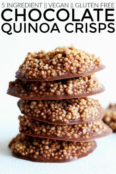 Wenn Sie Schoko-Crunch-Riegel mögen, dann sind das gesunde Schoko-Quinoa-Chips.