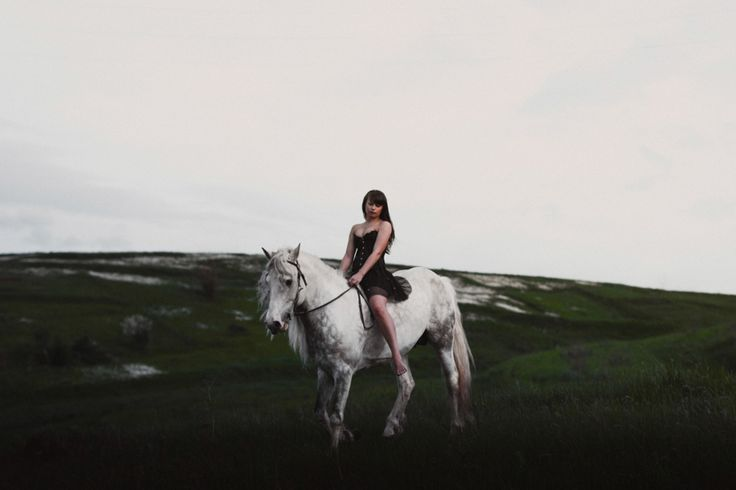 beautiful girl on the horse