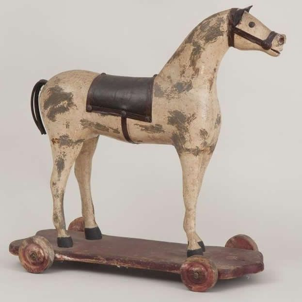 337 Best Images About Antique Toy Horses On Pinterest