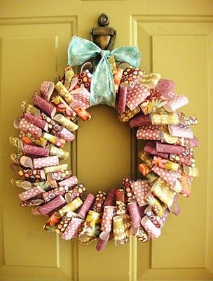 How To Make Paper Wreaths Handmade Craft Home D Cor Ideas