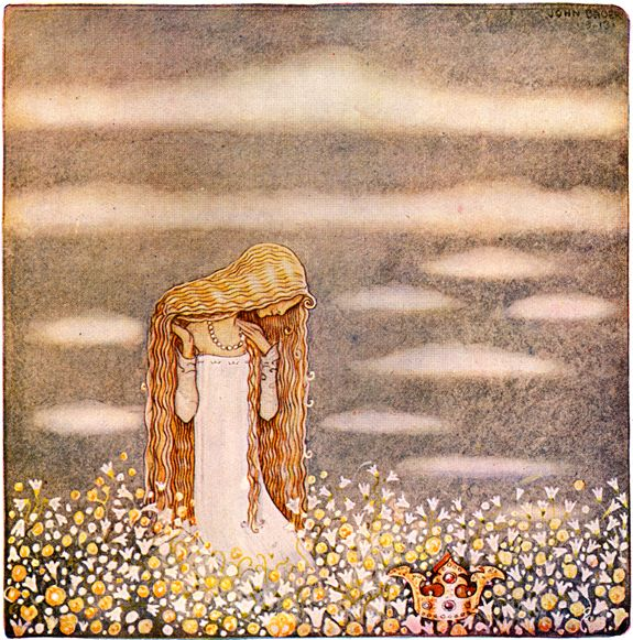 Leaps the Elk and Little Princess Cottongrass, illustrated by John Bauer, 1913