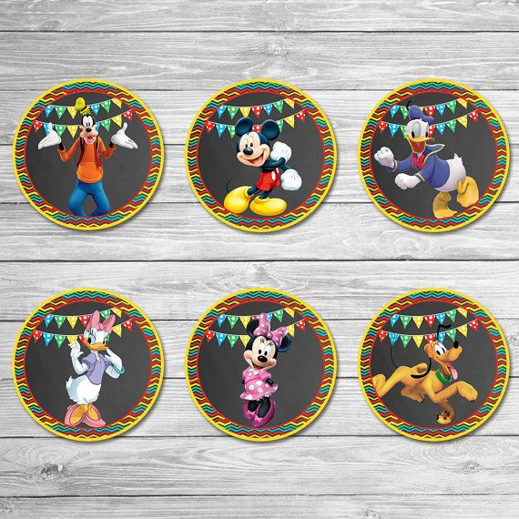Mickey Mouse Clubhouse Cupcake Toppers by ItsACowsOpinion on Etsy
