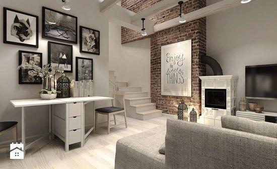 Salon styl Rustykalny - zdjęcie od Agata Hann Architektura Wnętrz