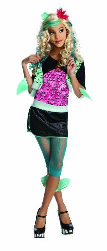 Rubie's Costume Co - Monster High Lagoona Blue Costume - Price: $17.48 - $67.04 - Sale: Lower price available on select options - Color: As Shown - Monster High's Lagoona Blue costume - Jacket with attached shirt and fins and skirt with attached shorts - Includes leggings with attached fins - Officially licensed Monster High costume, look for all the ghoulish girls for a fun costume - #topkidshalloweencostumesfor2012, #topkidscostumes #topcostumesforkids - http://mermaidhalloweencostume.net/