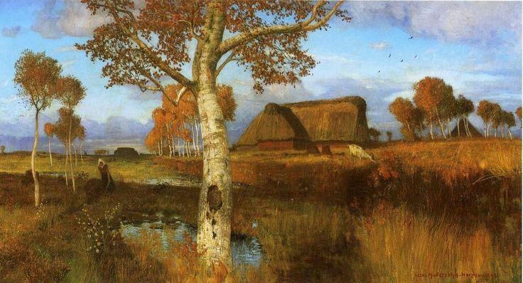 Podzim v Moor (1895) Otto Modersohn