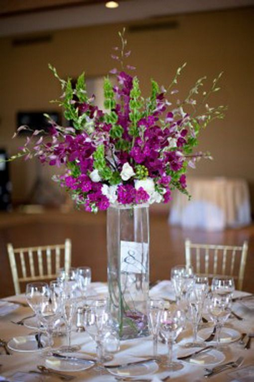 1000 ideas about purple wedding centerpieces on pinterest for Inexpensive wedding centrepieces