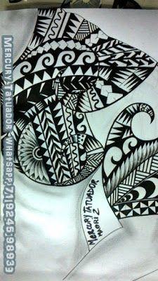 Desenho maori,por Mercury Tatuador
