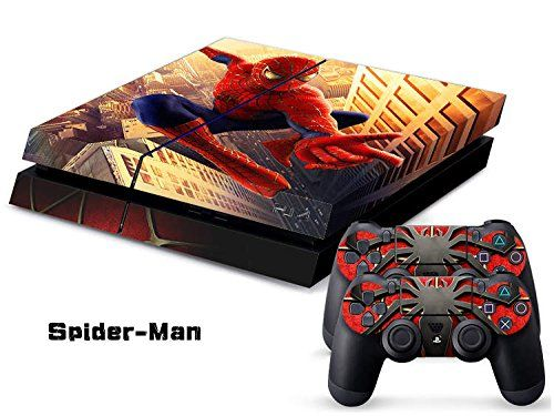 Spider-man Full Body Decal Skin Sticker Set for Playstation PS 4 PS4 Console+Controllers #0100