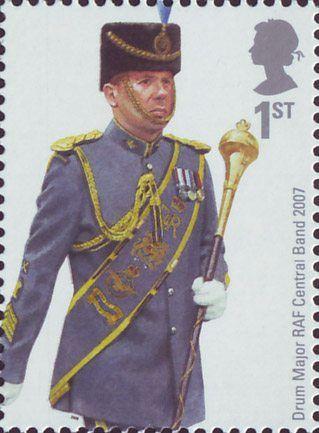 British Stamp 2008  - RAF Uniforms Drum Major RAF Central Band 2007