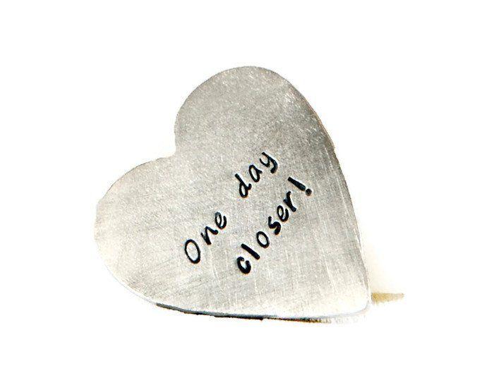 One Day Closer Custom Silver Heart Wallet Insert.