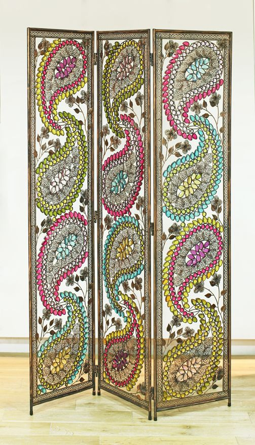 Multicolour Arabian Nights Metal Room Divider   By Arthouse