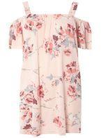 Womens DP Curve Plus Size Oriental Floral Bardot Top- Pink