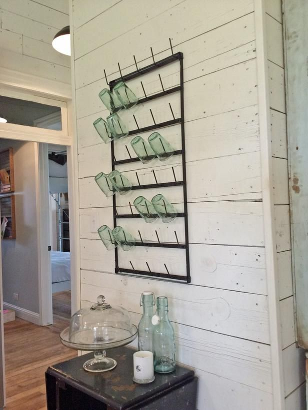 GREAT WAY TO DISPLAY GLASSES. On Their Renovation - Get to Know <em>Fixer Upper</em> Hosts Chip and Joanna Gaines on HGTV: