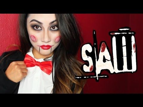 SAW PUPPET (Billy) MAKEUP TUTORIAL! - YouTube