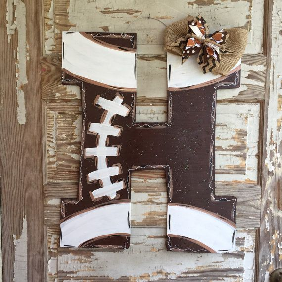 Football Door Hanger  Football Sign  Football by queensofcastles