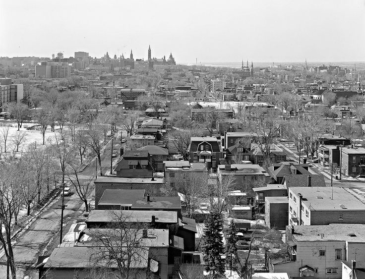 https://flic.kr/p/rmJUSh | Towards the downtown (west) from Wurtemburg St. 1968 | Ottawa ON