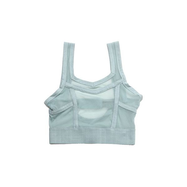 Topshop Lingerie Mesh Seafoam Green Elastic Band Bra - StyleCaster ❤ liked on Polyvore featuring intimates, bras, tops, lingerie, shirts, clothes - tops, mesh bra, lingerie bras, topshop and green lingerie