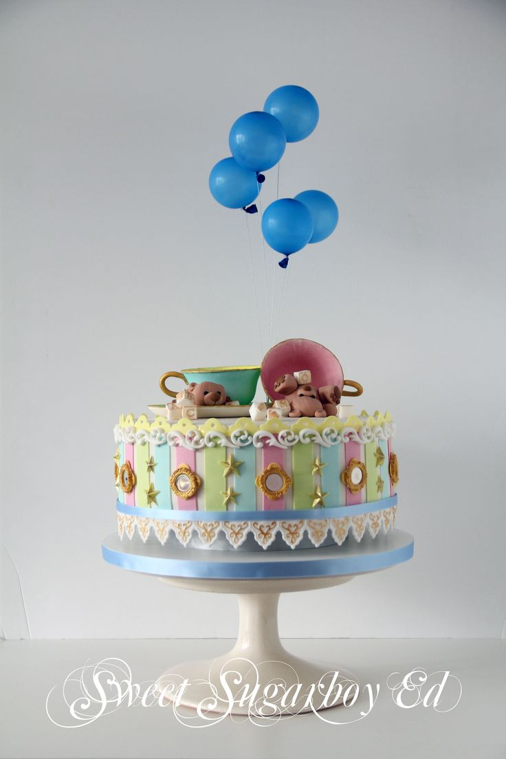 Teddy Teacup Carousel Cake 24 August 2014